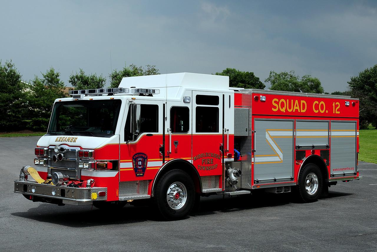 Kreamer Fire Co  Squad 12  2010 Pierce Velocity  PUC  1500/ 750/ 40 class B foam