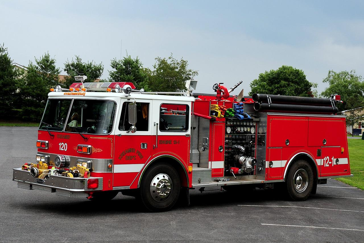 Kreamer Fire Co  Engine  12-1  1986 Pierce  Arrow  1750/ 750 / 25 class B foam