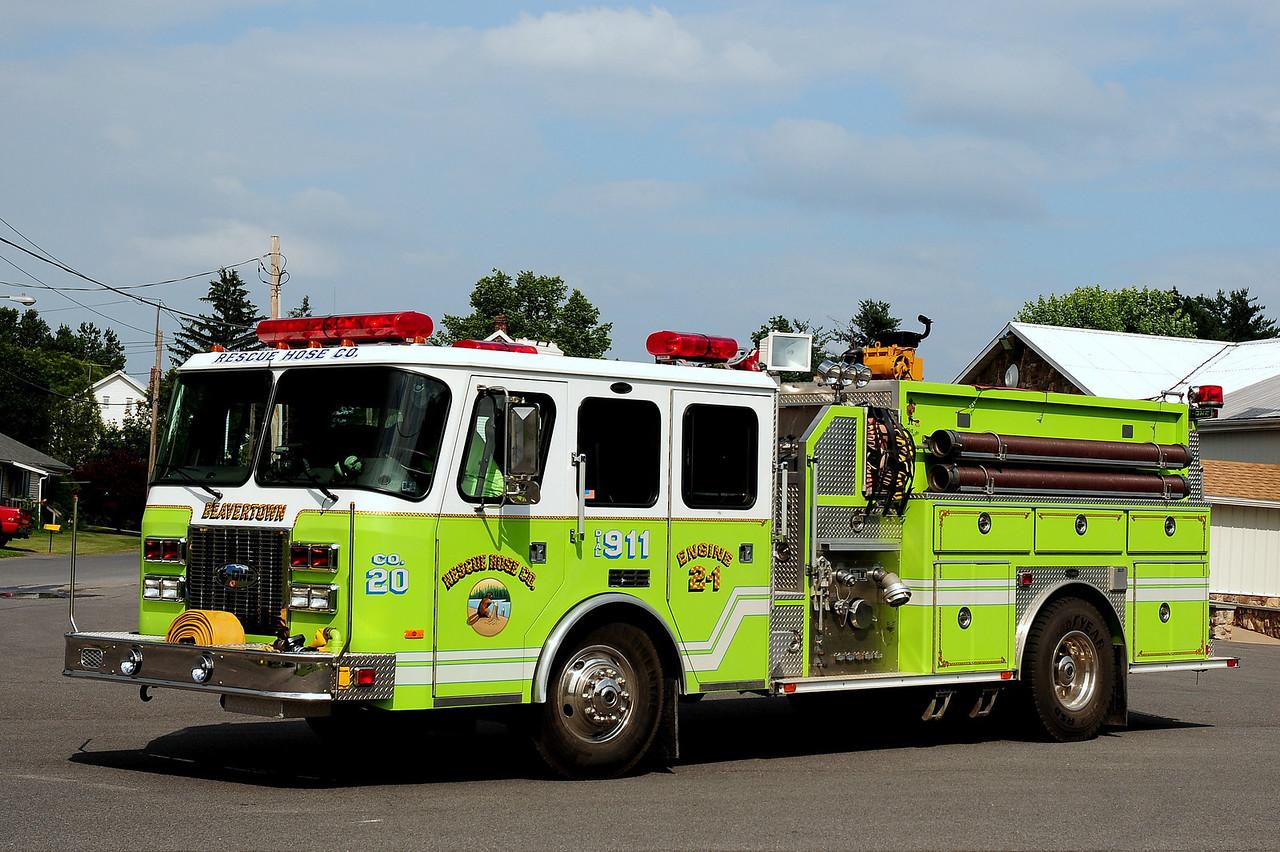 Beavertown Fire Co  Engine  2-1  1994  Emercency-One  1500/ 1000