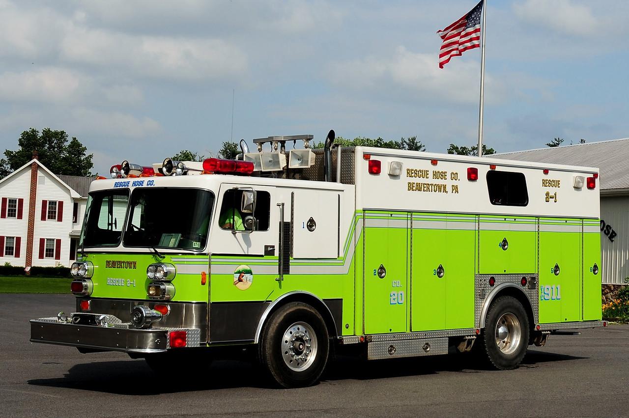 Beavertown Fire Co   Rescue  2-1  1984 Pemfab/ Emergency- One