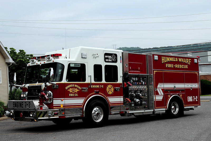Hummels Warf  Fire Co  Engine 7-2  2007 Spartan/ Crimson  2000/ 1000/ 50 class A/ 40 class B  foam