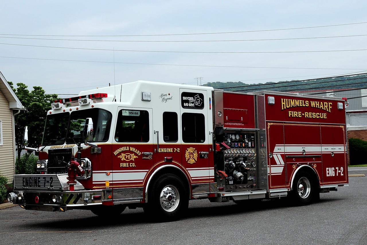 Hummels Warf  Fire Co  Engine 7-2  2007 Spartan/ Crimson  2000/ 1000/ 50 class A/ 40 class B  foam