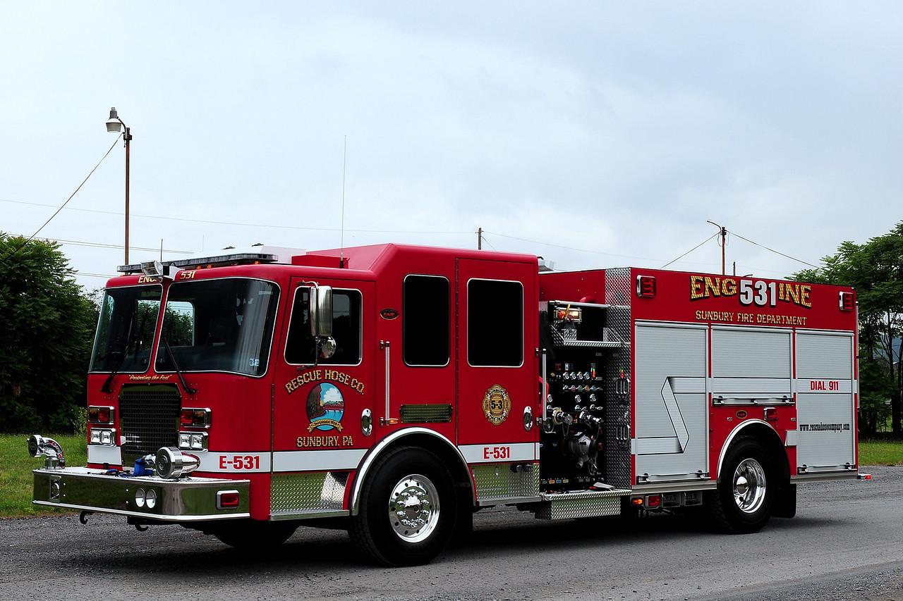Rescue Hose Co   Sunbury, Pa  Engine  531  2010 KME 200/ 1000  (Northumberland County)