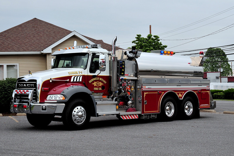 Hummels Warf  Fire Co  Tanker  7-1  2007 Mack Granite/  Semo  1500/ 3000/ 40 class A foam