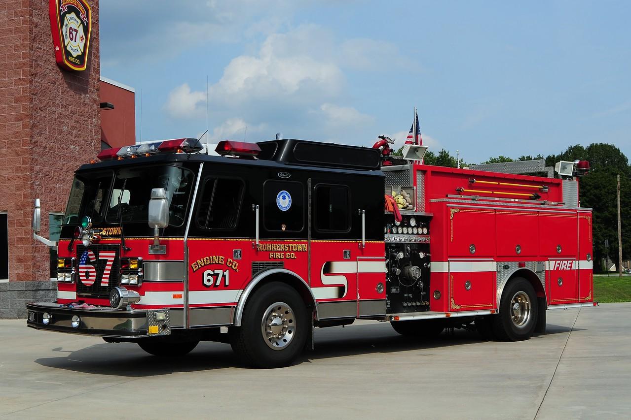 Rohrerstown Engine 671   1995 Emergency One 1500/ 1000
