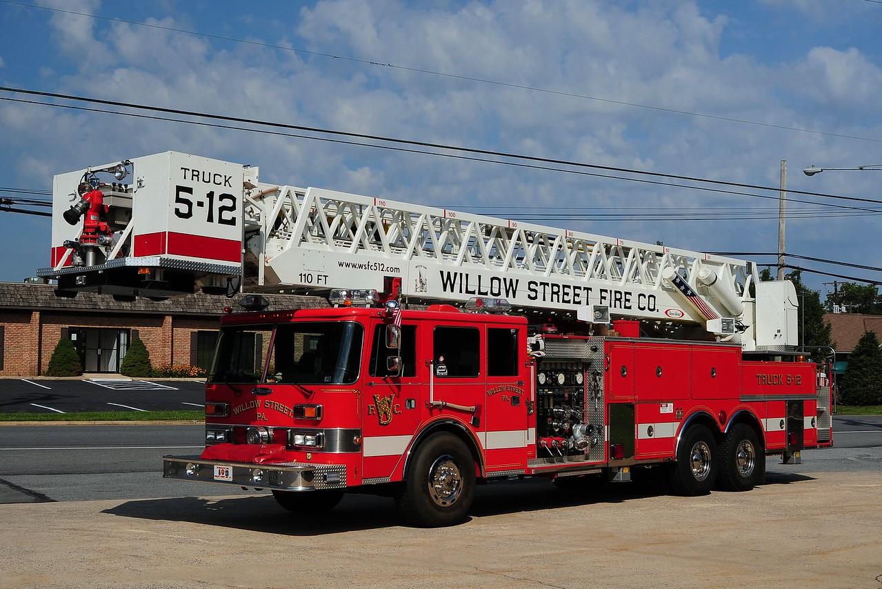 Willow Street Truck 5-12 -1987 Pierce Arrow 1500/ 200/ 110ft