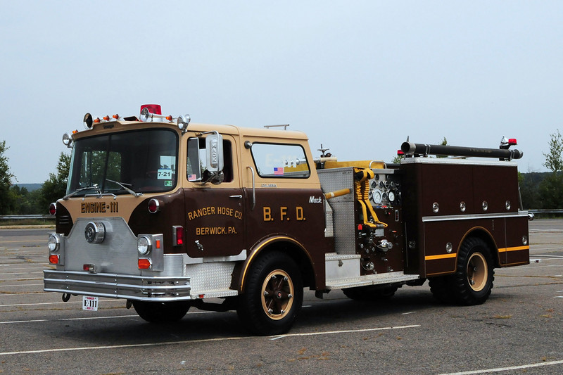 Ranger Hose Co  Engine  111  1974  Mack CF  750/ 500 refurb in 1995 by Swab