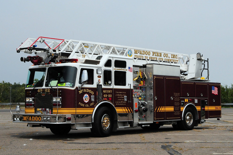 McAdoo Fire Co  Ladder 49-22  2003 KME 2000/ 300/ 30 / 75 ft
