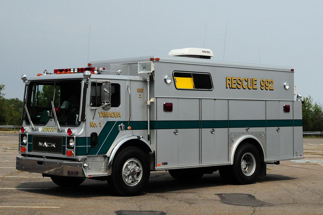 Tamaqua  Emergency & Rescue Squad    Rescue 992  Unit 2  1984 Mack MC/ Swab