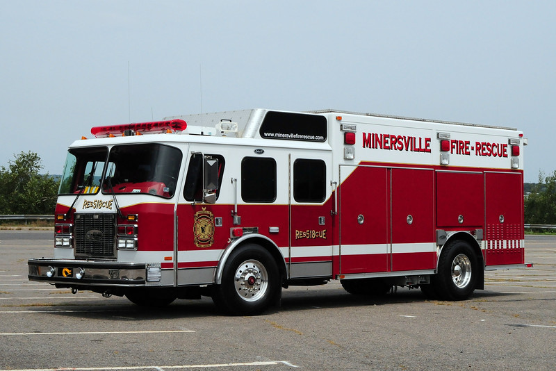 Minersville Fire Co   Rescue  518  1993 Emercency-One  Heavy Rescue  Ex-Newark, DE