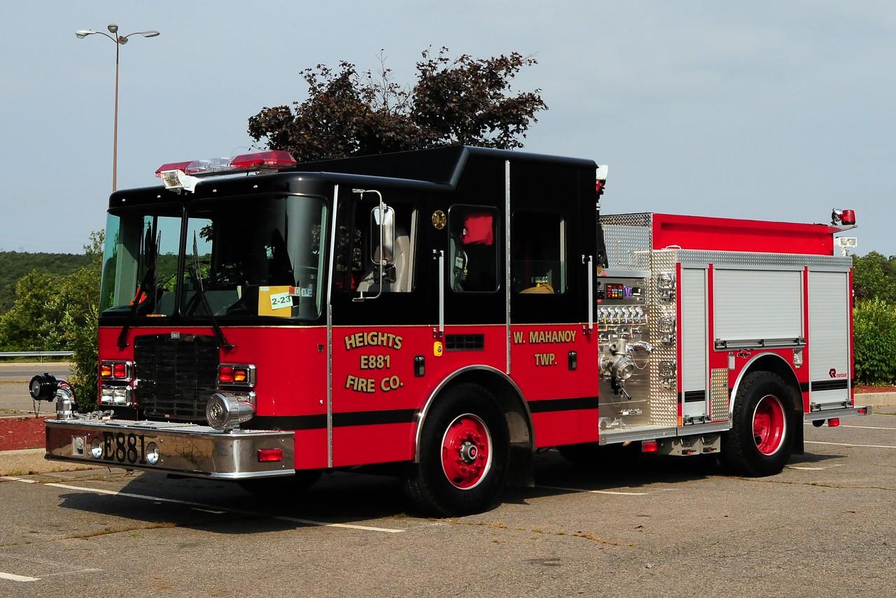 Heights Fire Co   Engine  881  2009 HME/ Rosenbauer  1500/ 750