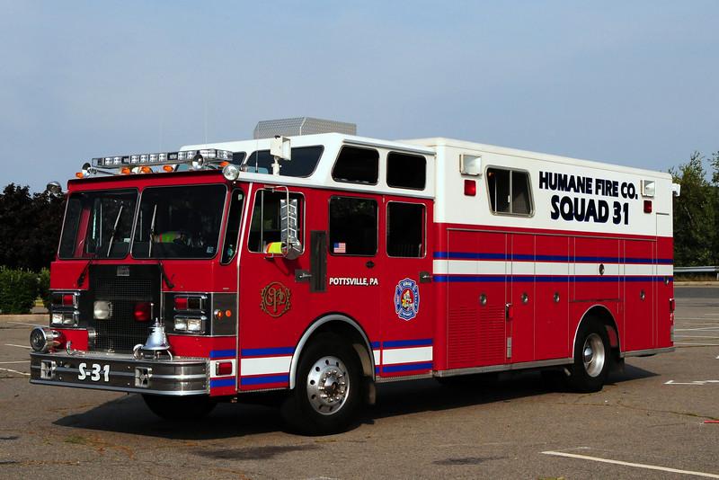 Humane Fire Co   Squad  31  1986 Spartan/ Custom Fire  Ex-Shakopee, MN