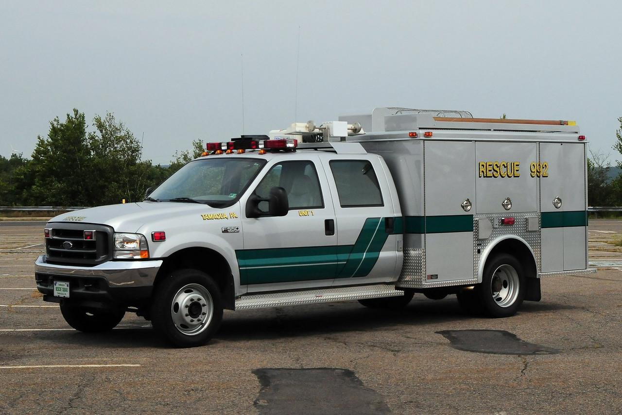 Tamaqua Emergency & Rescue Squad Rescue 992 Unit 1  2003 Ford F-550 / Swab