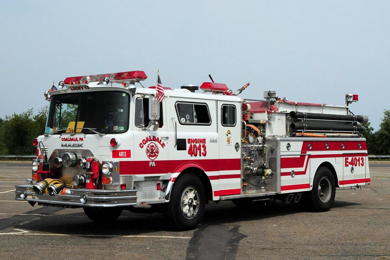 Coaldale  Fire Co  Engine 4013  1979 Mack CF 1000/ 500  ex- Eastern Salisbury