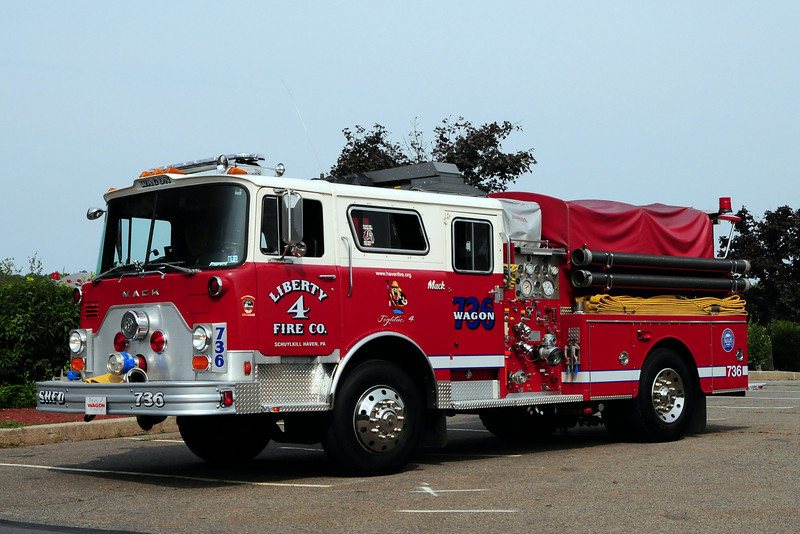 Liberty Fire Co  Wagon 736  1980 Mack CF 1000/ 500 Ex- FDNY Engine 63