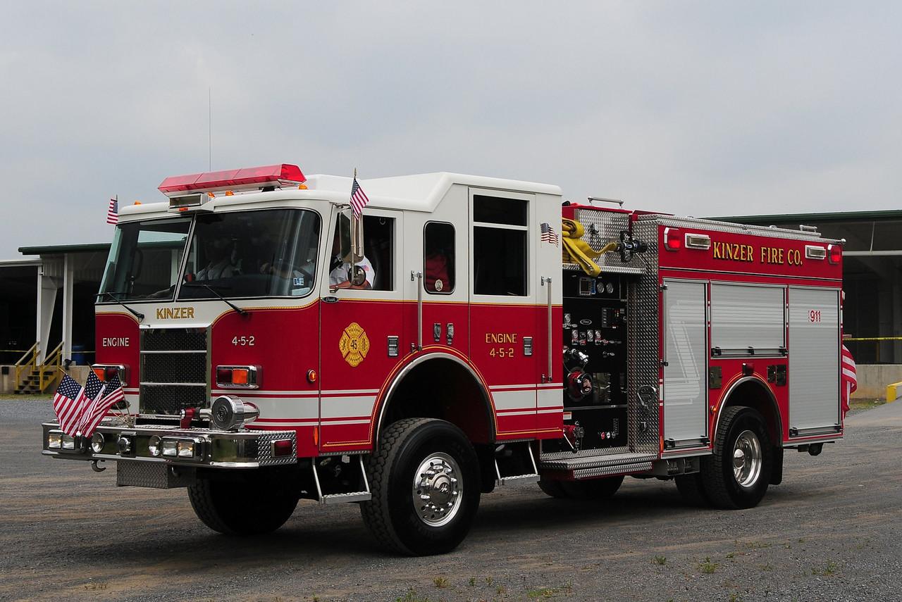 Kinzer Fire Co  Engine  4-5-2  2003 Pierce Dash 4x4  1750/ 500