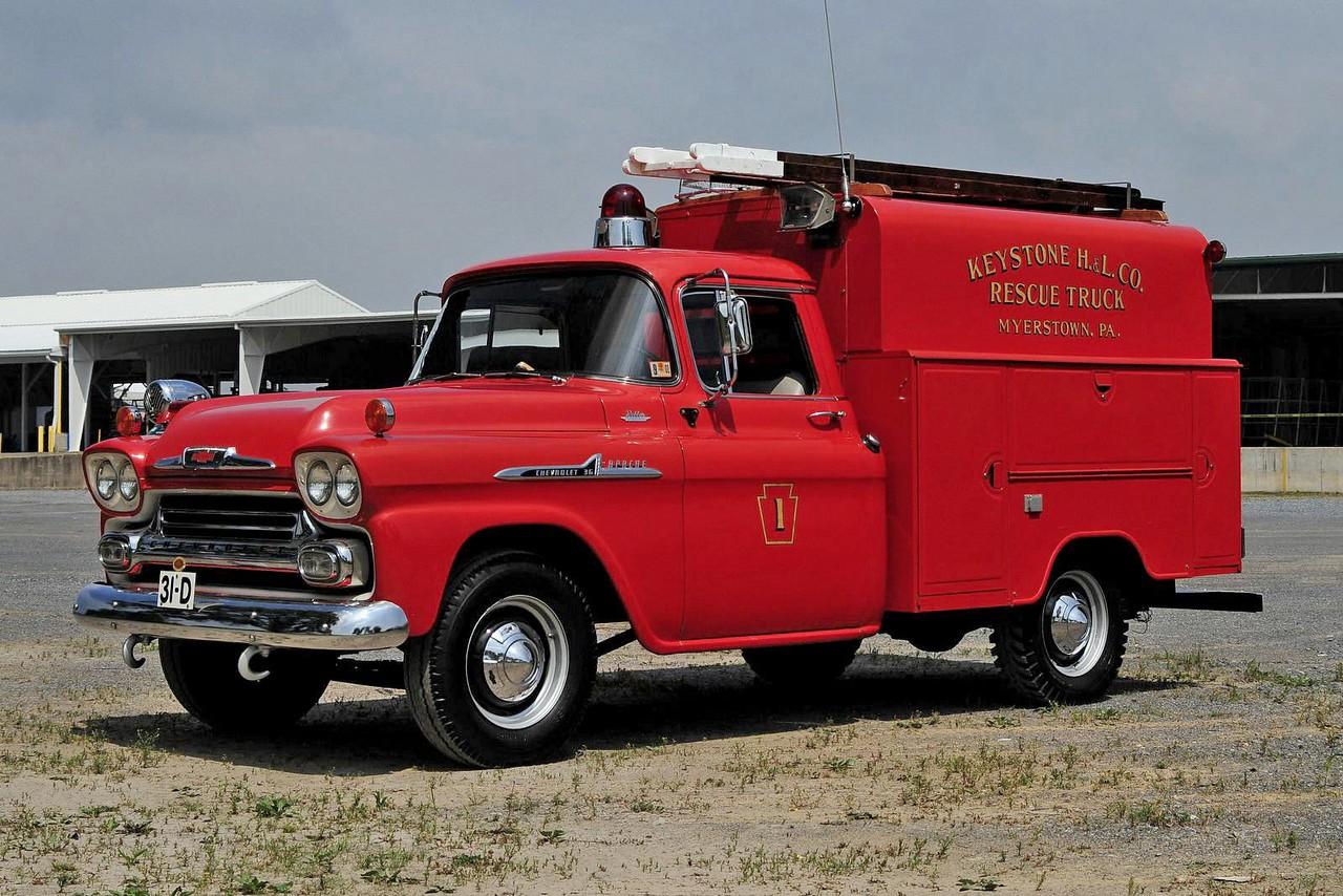 Keystone Hook & Ladder Fire Co 1958 Chevrolet / Brightbill-Morrison Body