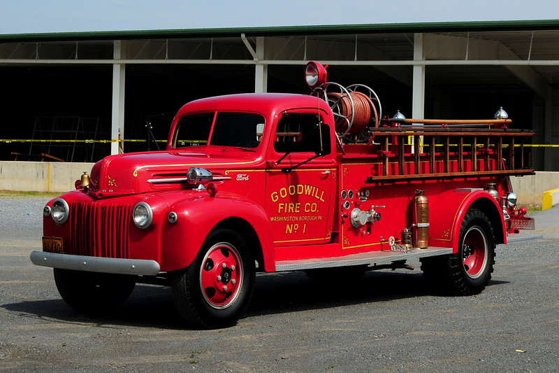 Goodwill Fire  Co of Washington Borough, P.a.   1945 Ford  500 gpm  Darley pump  restored in 1983
