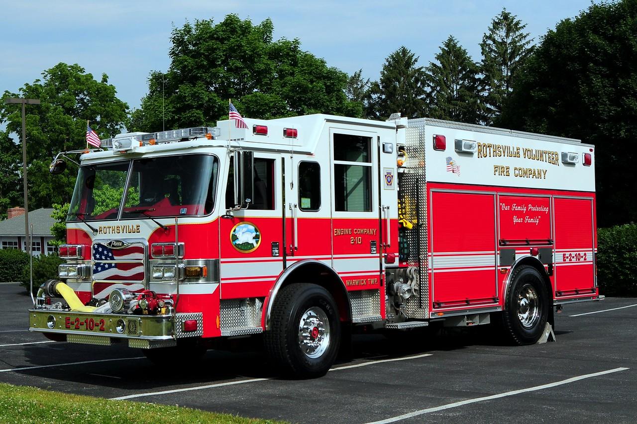 Rothville Rescue Engine 2-10-1  2009 Pierce  Arrow XT PUC  1500/1 000   with  air cascade system