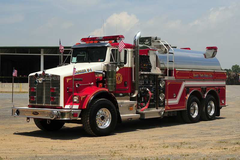Bart Township Fire Co    Tanker  5-1-1   2008 Kenworth  Pierce   2000/ 3000