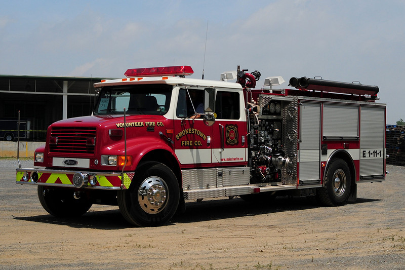 Smokestown Fire Co  Engine  1-11-1  2000 International  4900 / Pierce   1500/  500    Ex- Lower Alsace Fire Dept