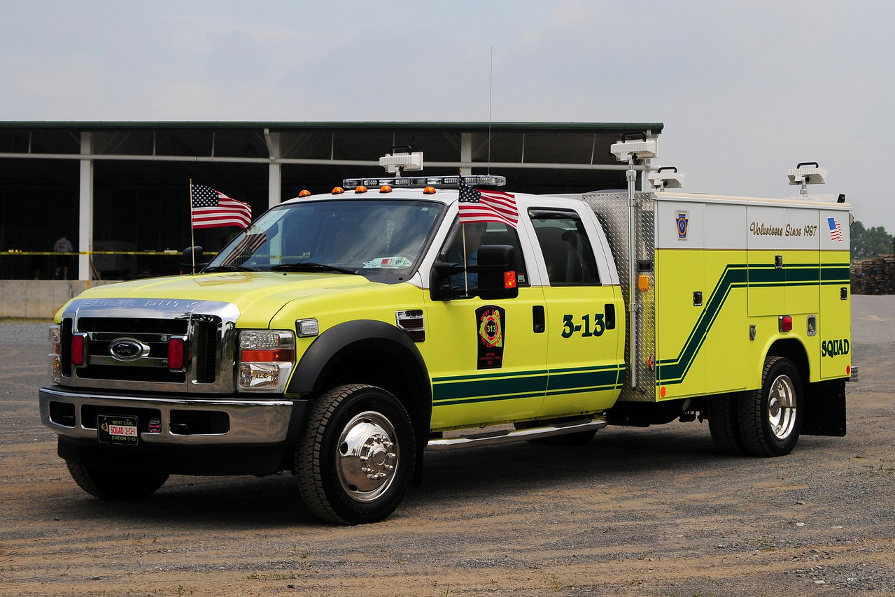West Earl Fire Co  Squad  3-13-1  2008 Ford F-550  Reading Body