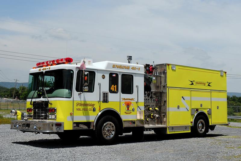 Fredricksburg Fire Dept  Rescue- Engine  41-1  1995  HME/ New Lexington  1750/  750/ 35 class B / 30 class A