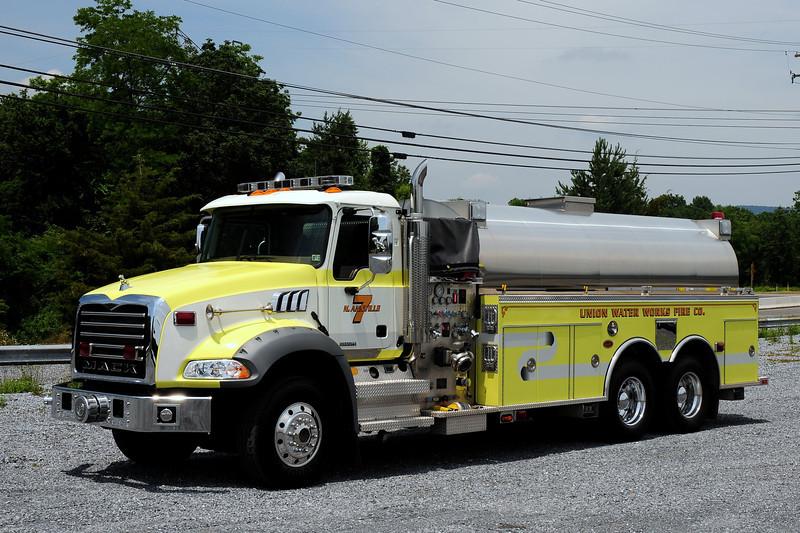 Union Waterworks Fire Co  Tanker 7 2007 Mack Granite/ KME 1200/ 3500