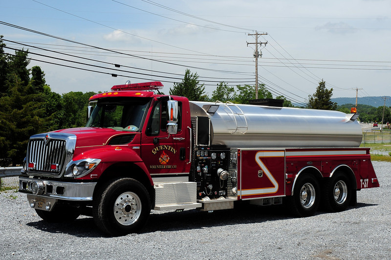 Quentin Fire Co  Tanker 37   2010 International/ 4 Guys  500/ 3000