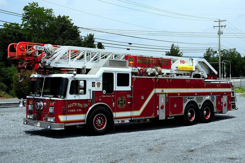 North End Fire Co   Truck 58  1994  Seagrave  110ft  ex-Woodbridge,NJ