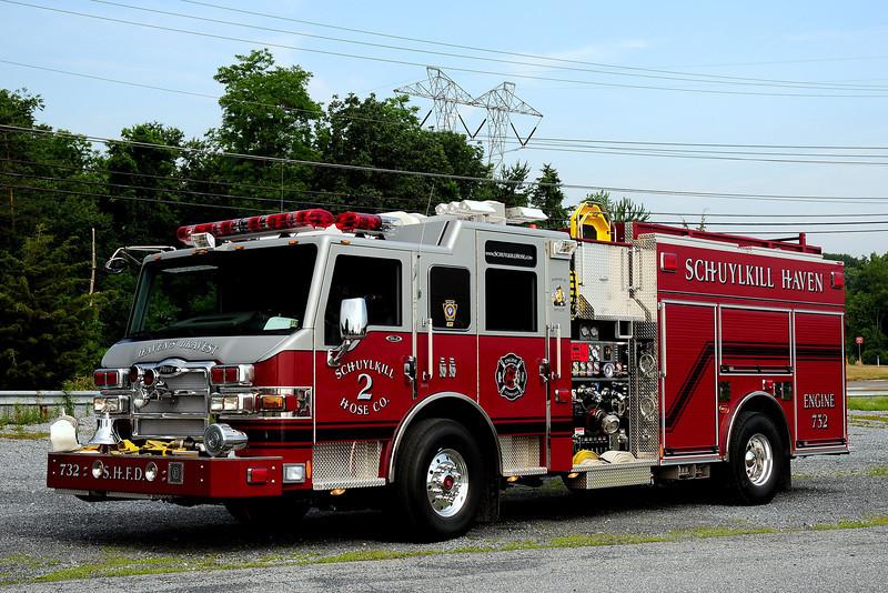 Schuylkill Haven Hose  Co  2   Engine  732  2008 Pierce velociy  2000/1000