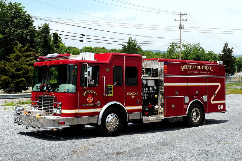 Quentin Fire Co  Engine  37  2008 HME/ New Lwxington