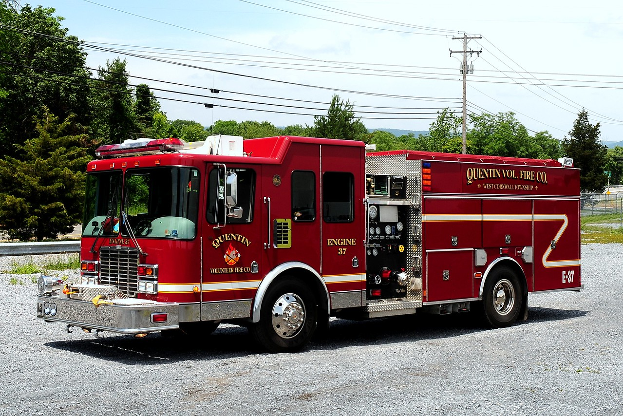 Quentin Fire Co  Engine  37  2008 HME/ New Lwxington