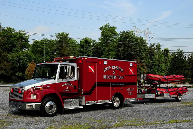 Schuylkill Haven Hose Co 2  2001 Freightliner / Medic Master Ambulance  Body