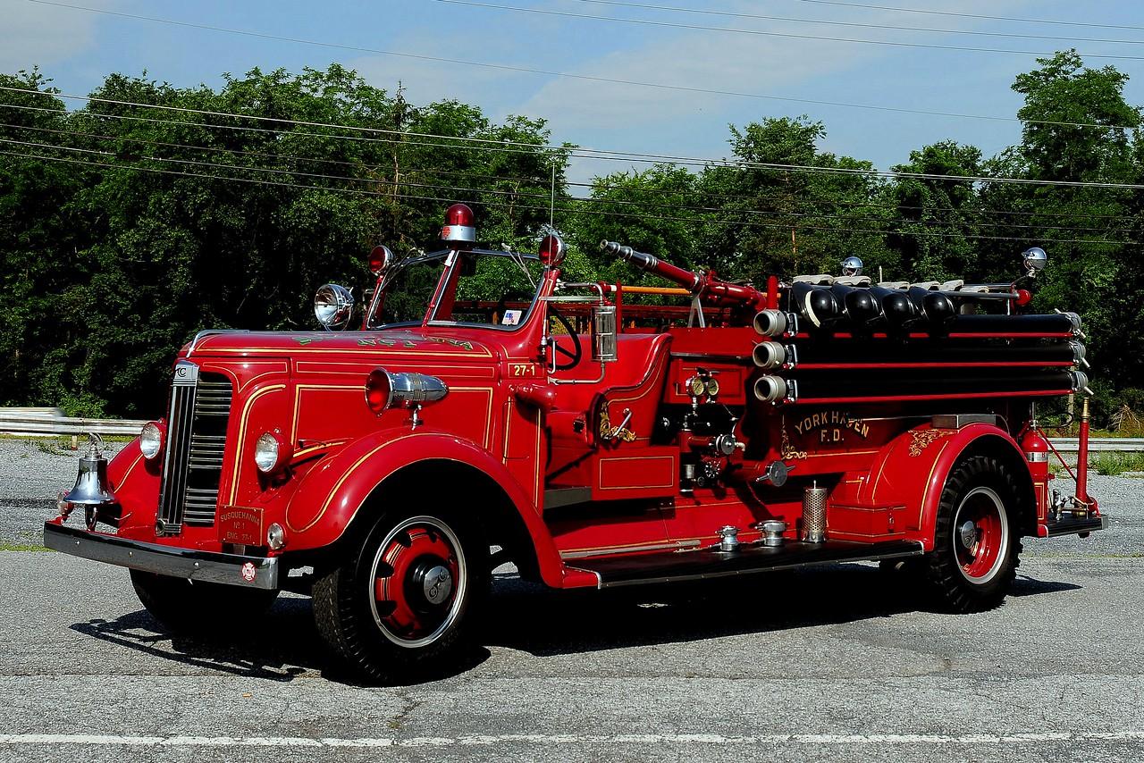 Susquehanna  Co1   of  York Haven Pa   1937 GMC-American La France    500/ 150