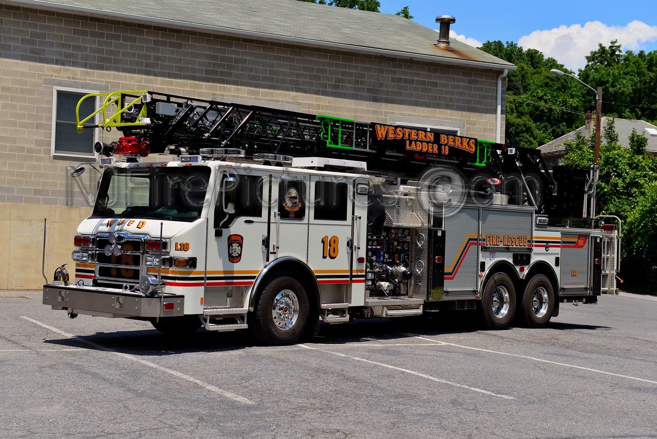 WESTERN BERKS FIRE RESCUE LADDER 18 SOUTH HEIDELBERG, PA