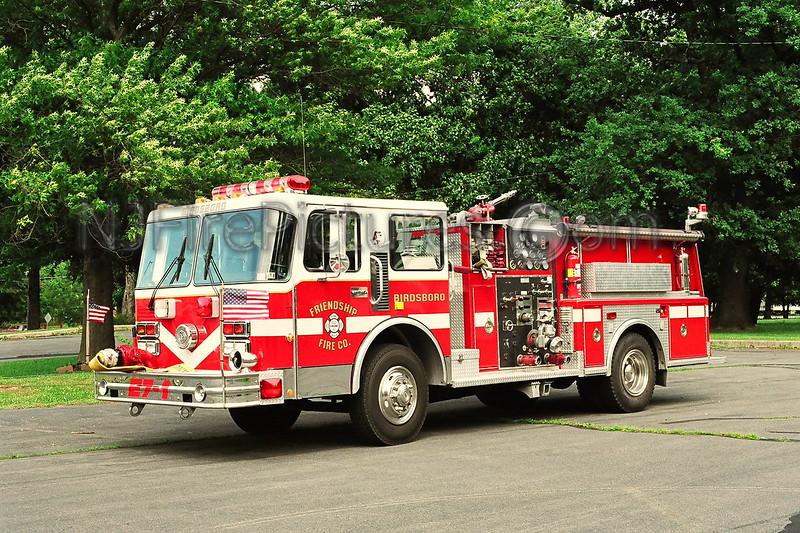 Birdsboro Engine 7-1 - 1971/1989 Pirsch/Spartan/Aerofire 1250/350 EX-Oxon Hill MD.