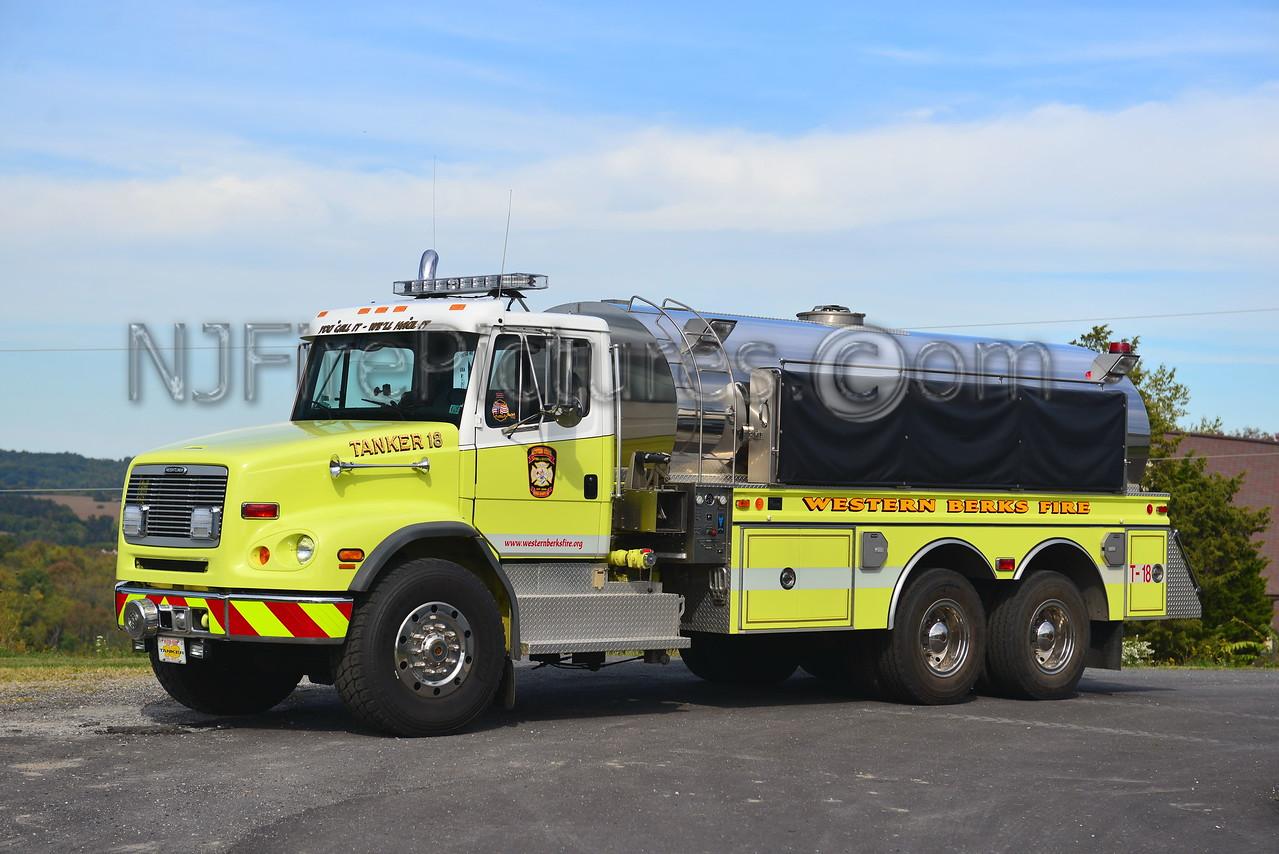 WESTERN BERKS FIRE LOWER HEIDELBURG TWP, PA TANKER 18