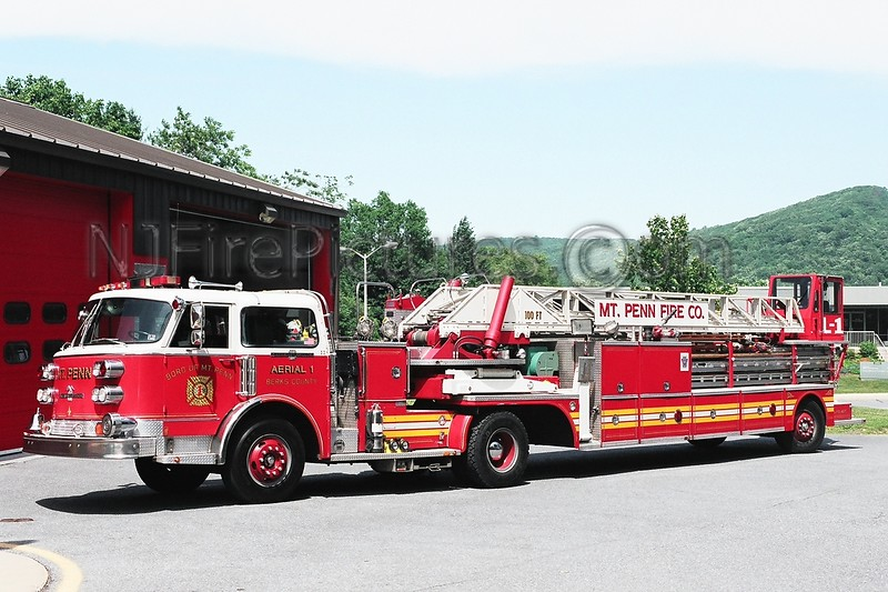 Mount Penn Ladder 1 - 1981/1989 American Lafrance 100' TDA  Ex-Ardmore PA.