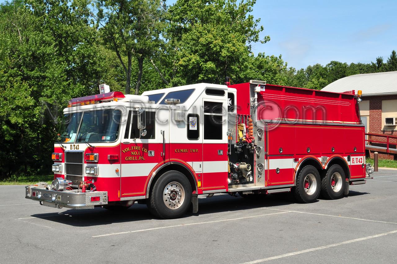Cumru Twp, PA (Grill Fire Co.) Engine/Tanker 42 - 1994 Pierce Lance 1500/2500/60
