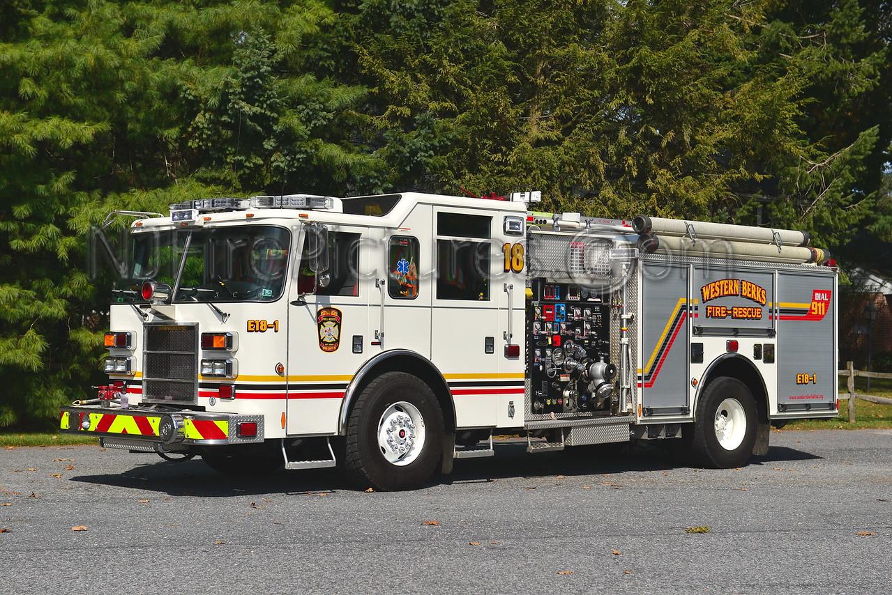 WESTERN BERKS FIRE WERNERSVILLE, PA ENGINE 18-1