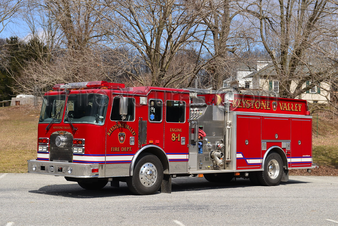POMEROY, PA KEYSTONE VALLEY FD ENGINE 8-1