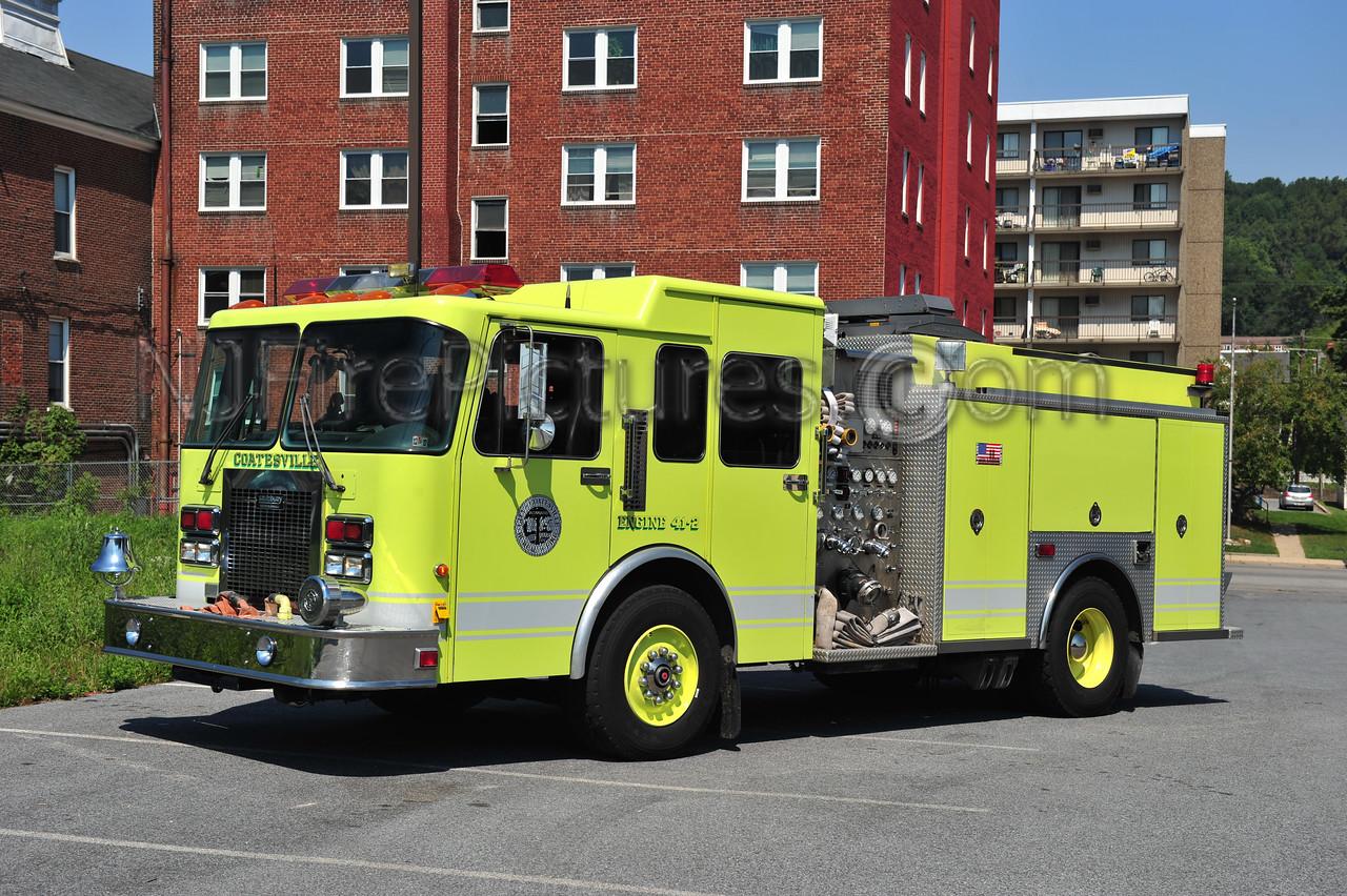 COATESVILLE, PA ENGINE 41-2 - 1995 SPARTAN/SAULSBURY 1500/750