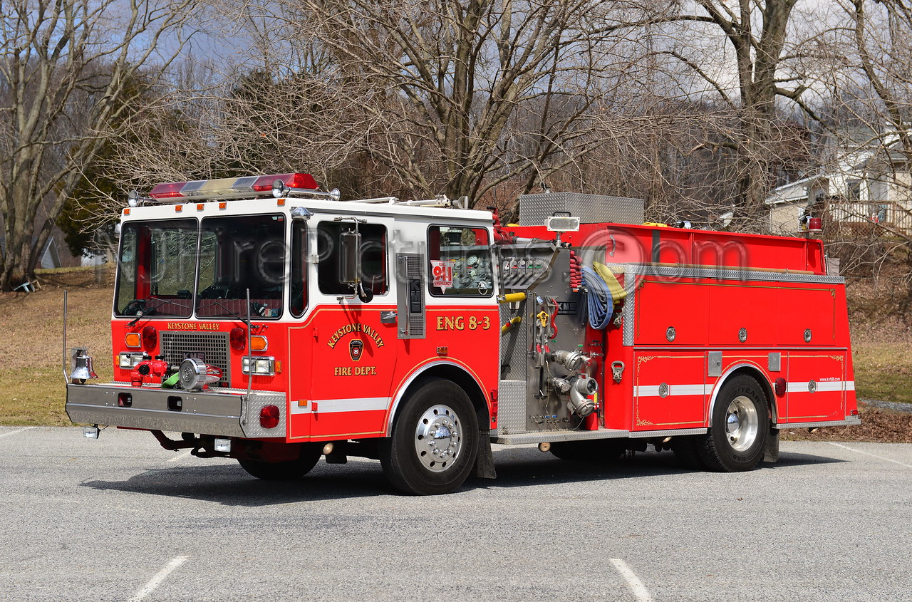 POMEROY, PA KEYSTONE VALLEY FD ENGINE 8-3