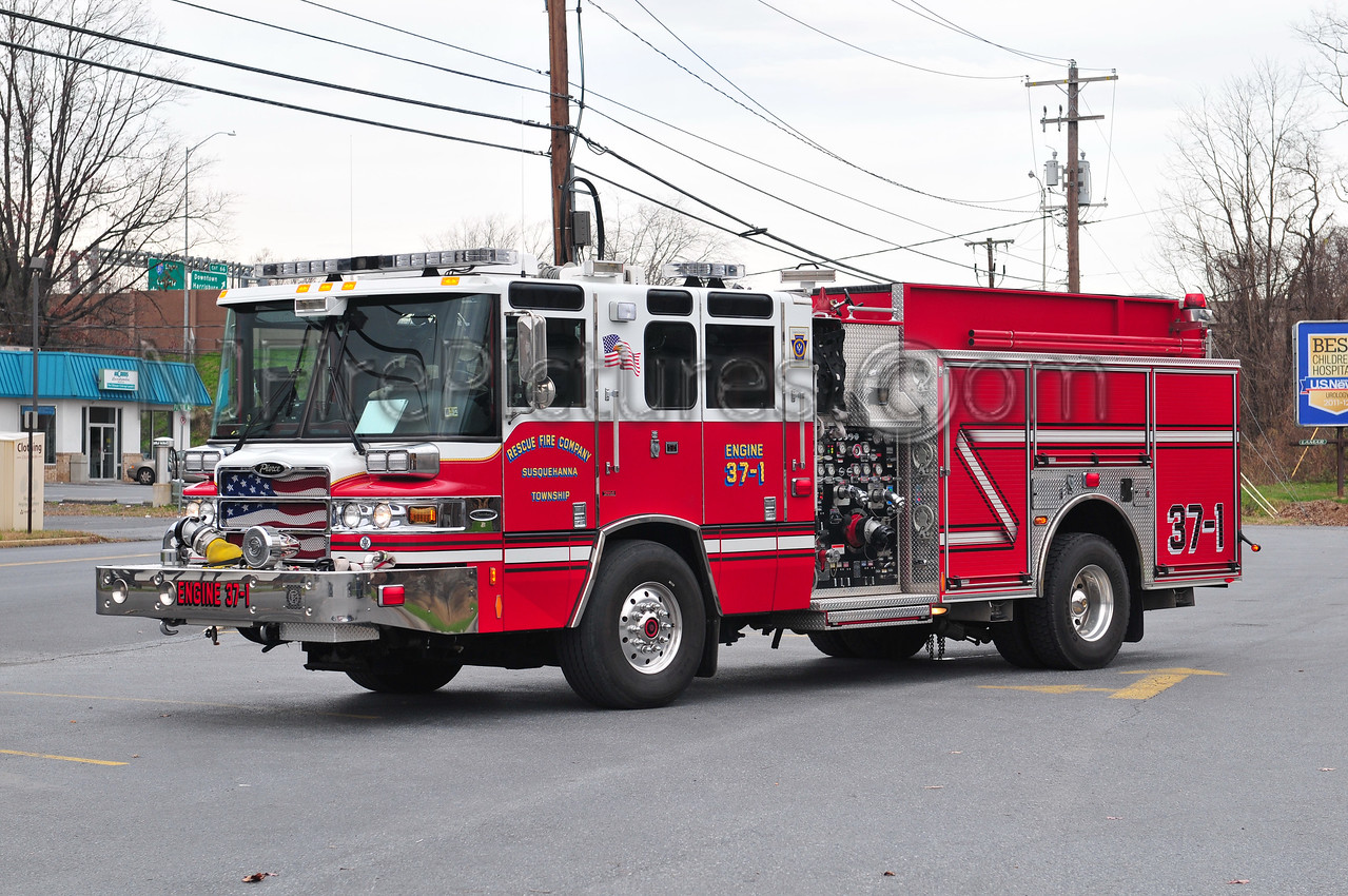 SUSQUEHANNA TWP. ENGINE 37-1 - 2008 PIERCE QUANTUM 1500/1000  (RESCUE FIRE COMPANY)