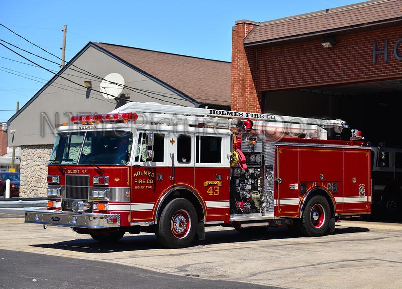 RIDLEY TWP, PA HOLMES FIRE CO. SQURT 43
