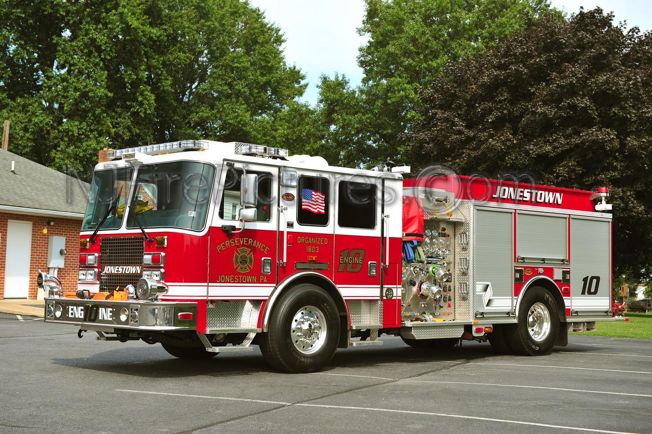 JONESTOWN, PA ENGINE 10 - 2010 KME PREDATOR 1500/850  PERSEVERANCE FIRE CO.