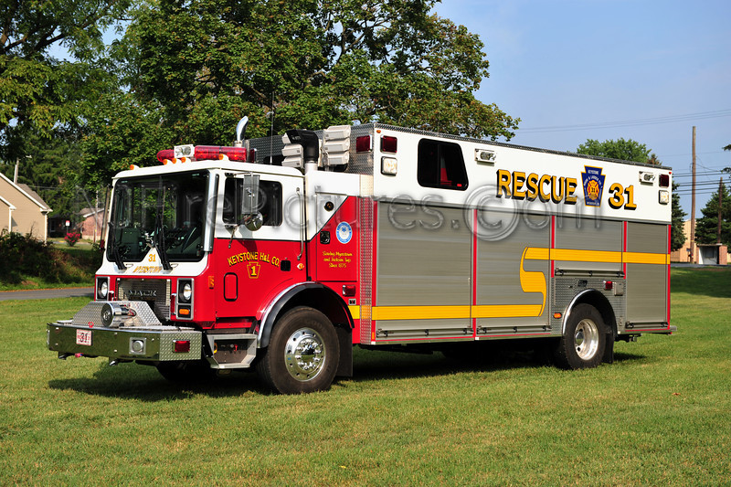 MEYERSTOWN, PA RESCUE 31 - 2005 MACK MR/NEW LEXINGTON  (KEYSTONE H&L)