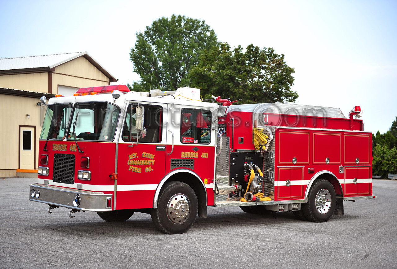 MT. ZION, PA ENGINE 401 - 1992 SPARTAN/DARLEY 1250/1000