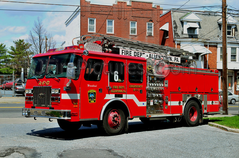 ALLENTOWN, PA ENGINE 6 - 1995 EMERGENCY ONE 1500/500/55'